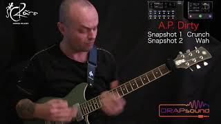 "Andrea Palazzo plays preset ""A.P. Dirty"" for HELIX and HX STOMP"