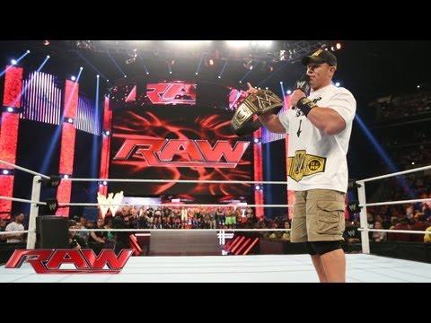 WWE Champion John Cena Elects To Face Daniel Bryan At SummerSlam: Raw, July 15, 2013