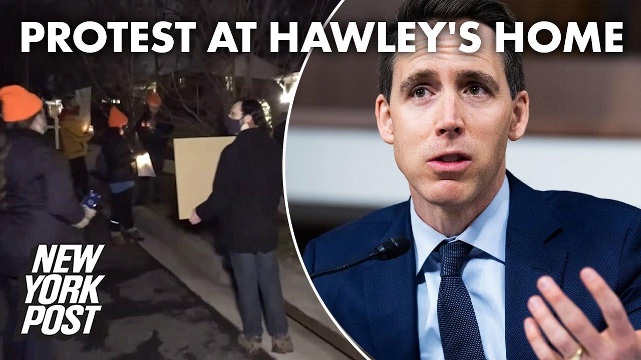 Hawley claims 'Antifa scumbags' threatened his wife, newborn ...