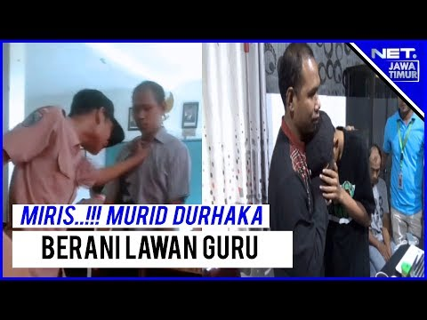 Viral..!! Inilah Kisah Murid Durhaka Tantang Guru Berkelahi Di Gresik- NET. JATIM