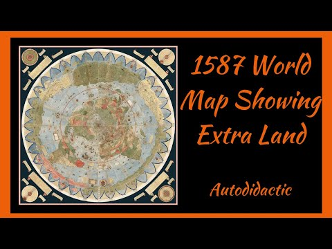 1587 World Map Showing Extra Land
