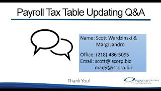 Updating Your Tax Tables in Microsoft Dynamics GP