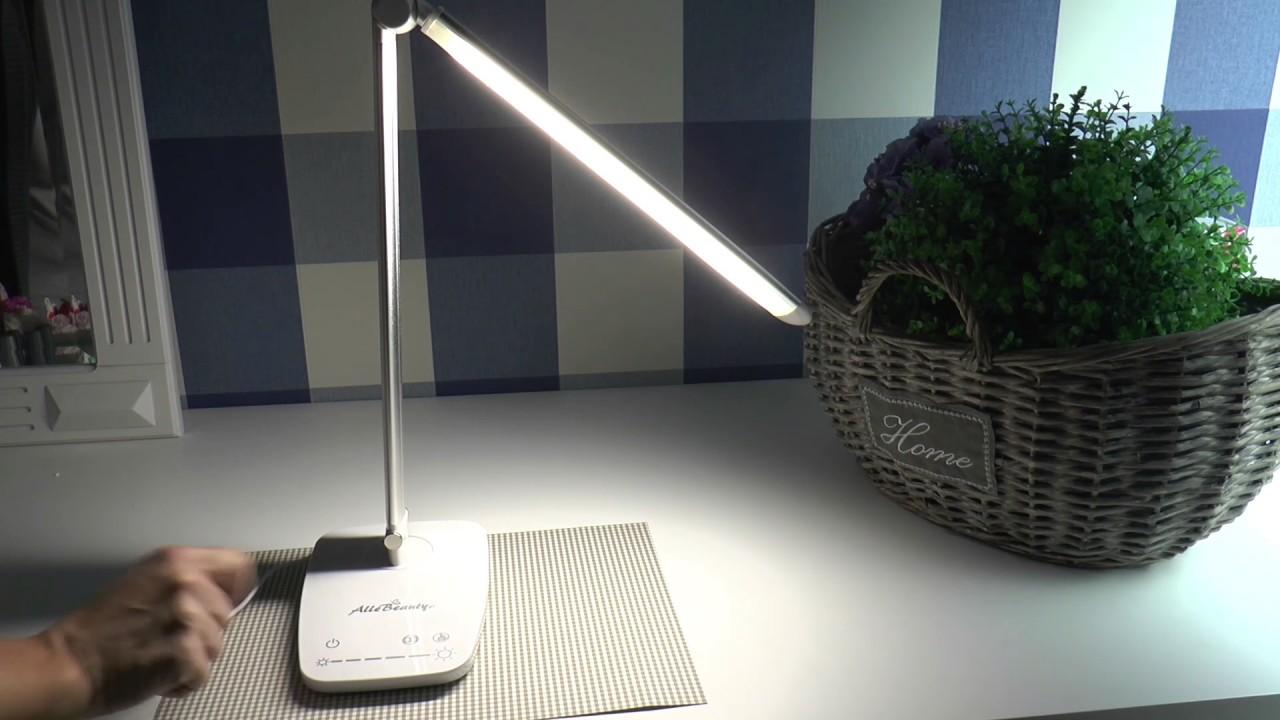 Lampka Na Biurko Led 10w światło Ciepłe Zimne Usb Dotyk Allebeauty