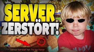 SERVER von ESKALATIONS KIDDIE ZERSTÖRT !! - TOTALER AUSRASTER !!! - Minecraft GRIEFING