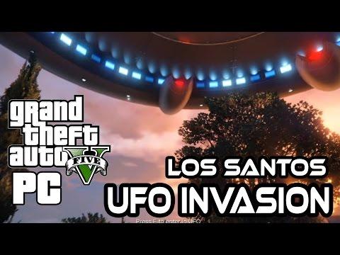 Alien Invasion in Los Santos! - UFO MOD GTA V Gameplay HD