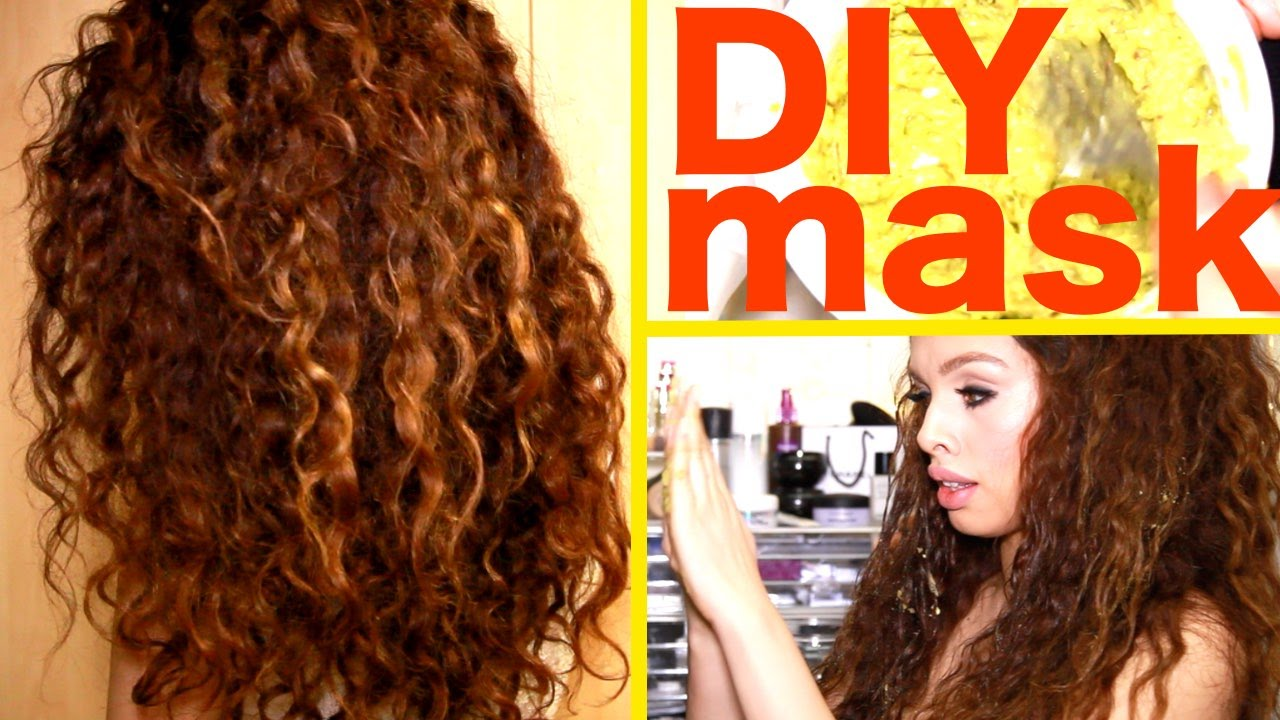 diy hair mask curly