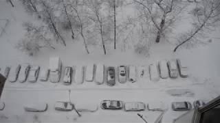 Снегопад в Москве сегодня видео