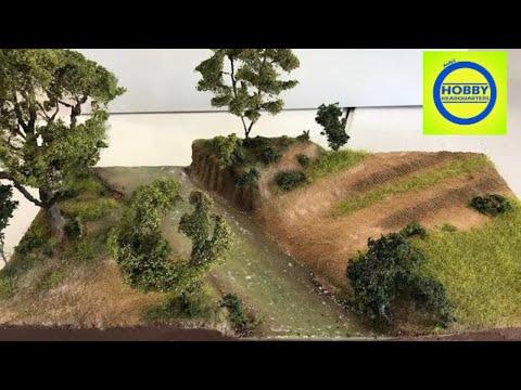 Building a realistic scenery stream diorama
