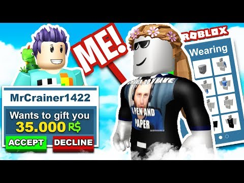 MY FIRST TIME PLAYING ROBLOX AND I GET 35k ROBUX!