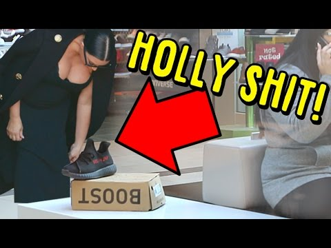 LEAVING NEW YEEZY V2 ON A MALL BENCH! DID KIM KARDASHIAN TAKE THEM!?!