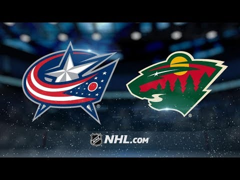 Columbus Blue Jackets Vs. Minnesota Wild   NHL Game Recap   October 14, 2017   HD