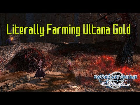 Alternative Ultana Gold Farming - Sword Art Online: Hollow Realization