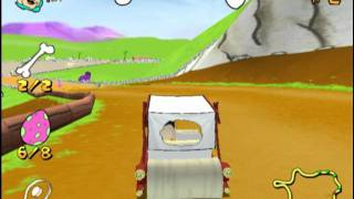The Flintstones: Bedrock Racing (PS2 Gameplay)