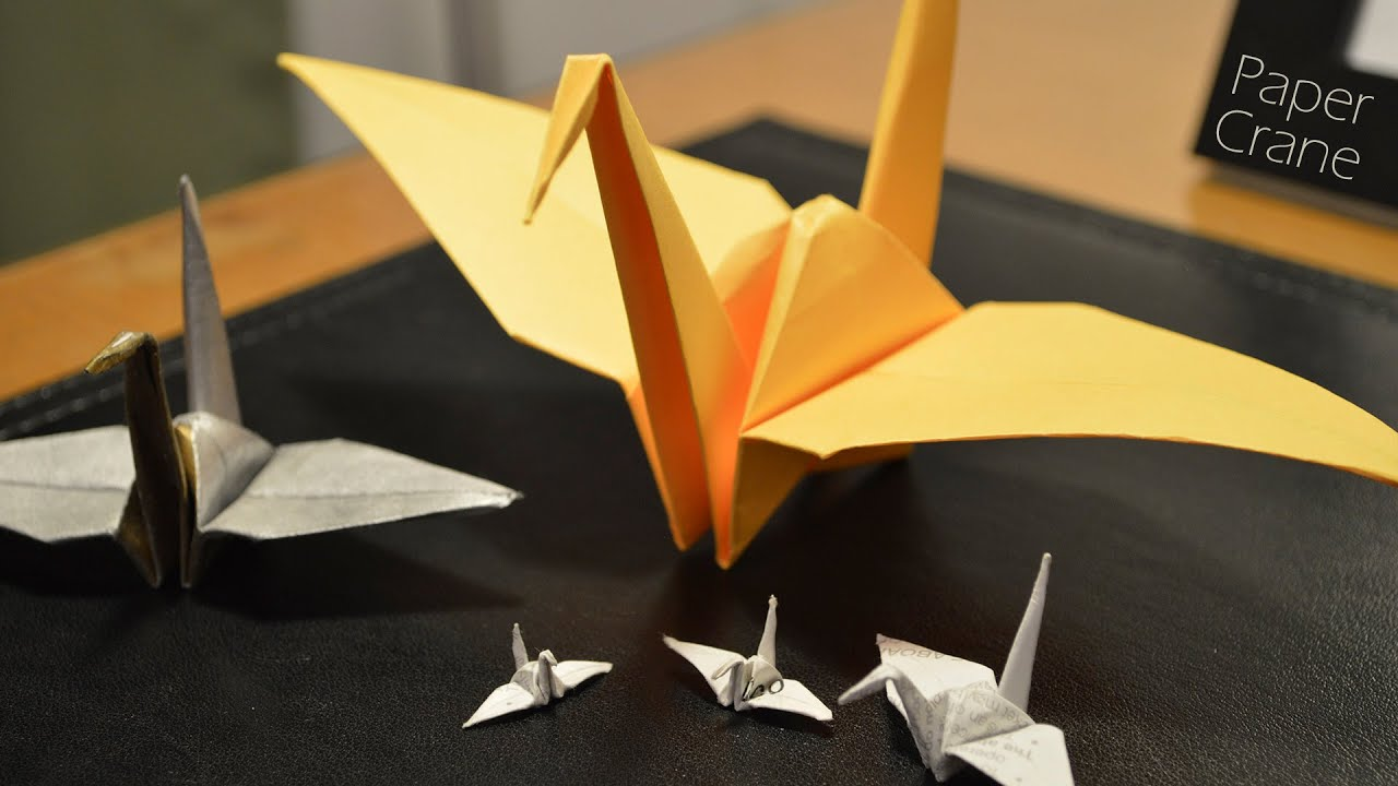 How To Make A Paper Crane Youtube