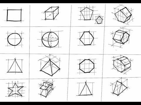 Lakaran Bentuk Bentuk Geometri