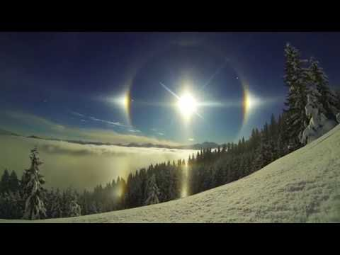 Epic Sun Dog Scene  5 Suns Weather Phenomenon