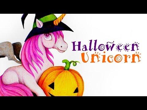 Halloween Unicorn Drawing