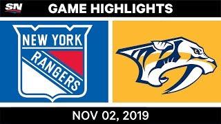 NHL Highlights   Rangers vs. Predators – Nov. 2, 2019