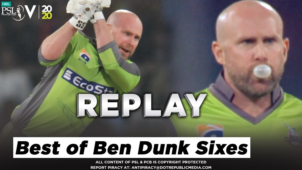 Best of Ben Dunk | The Six Masterclass by Ben Dunk | HBL PSL 2020