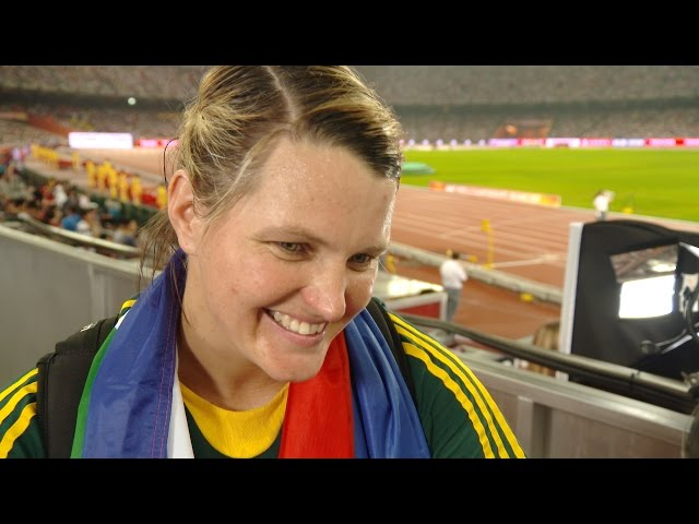 WCH 2015 Beijing - Sunette Viljoen RSA Javelin Throw Final Bronze