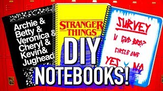 DIY School Supplies! DIY Logan Paul, Riverdale, and Stranger things notebooks!