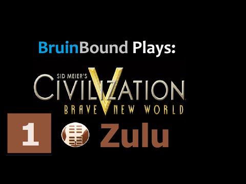 Civ V BNW Deity - Let's Play Zulu Part 1