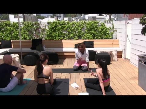 Acro Yoga at Alo Beverly Hills with Koya