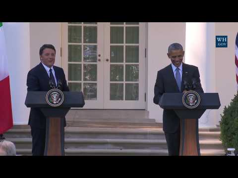 President Obama and Prime Minister Matteo Renzi Hold a Joint Press Conference