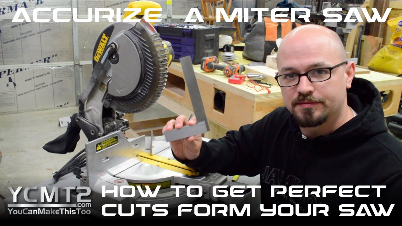 How To Get Perfect Miter Saw Cuts // Featuring DeWalt DW713