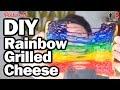DIY Rainbow Grilled Cheese - Pinterest Test - Man Vs Pin #96