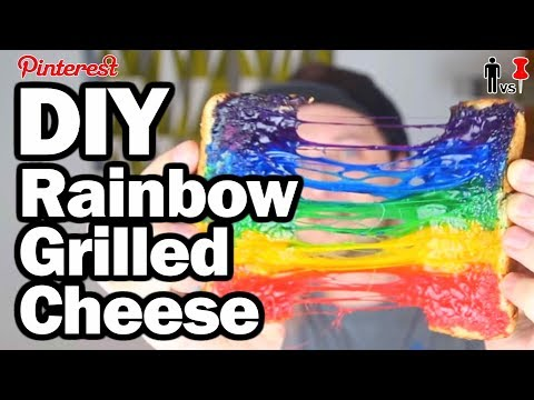 DIY Rainbow Grilled Cheese - Pinterest Test - Man Vs Pin #96