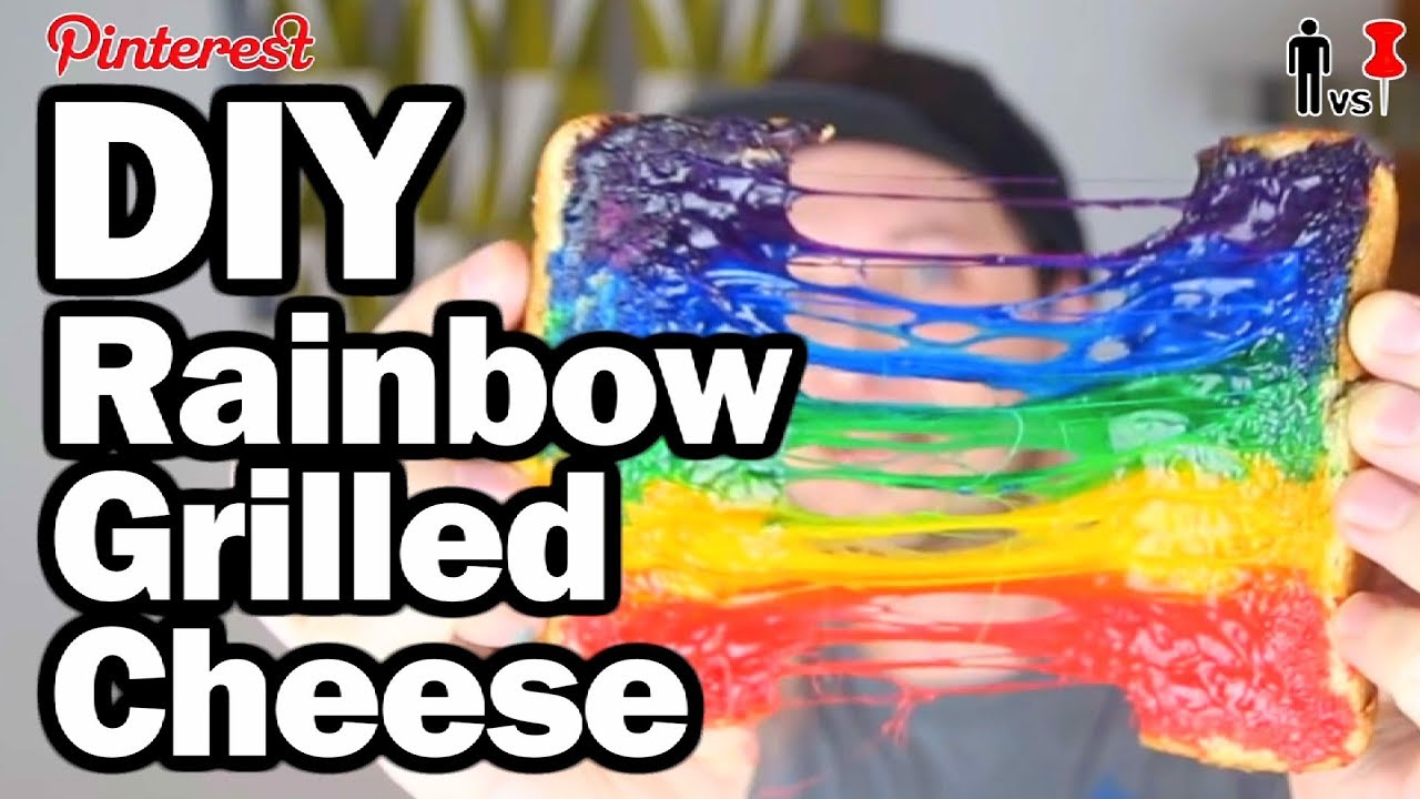 Diy Rainbow Grilled Cheese Pinterest Test Man Vs Pin 96