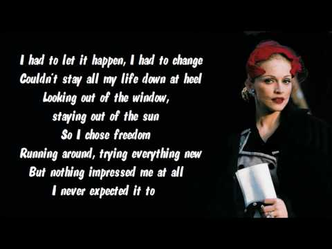 Madonna - Don't Cry For Me Argentina Karaoke / Instrumental with lyrics on screen