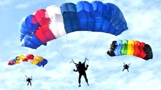 PARACHUTING ACROBATIC - Air Force Open Base - TERJUN PAYUNG Pameran Dirgantara [HD]