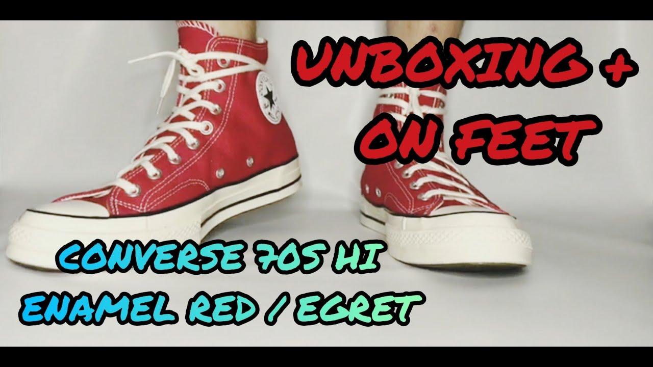 Unboxing + on Feet Converse 70s Hi