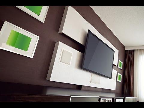 Интерьер современного дома: Телевизор на стене. Wall Mounted TV