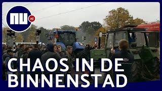Boeren bestormen Binnenhof en maken Den Haag een chaos