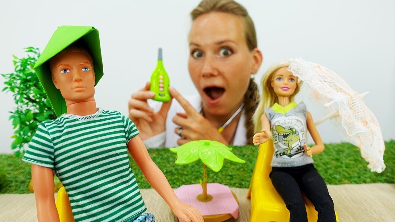 Барби и Кен на пляже. Головной убор своими руками. - YouTube
