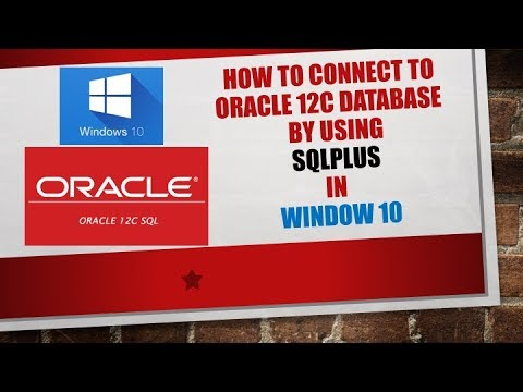 Connect to oracle database - how to connect to oracle database using  sqlplus in windows