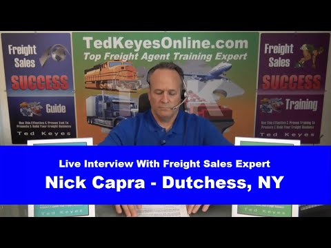 [TKO] ♦ Live Interview - Freight Sales Expert NICK CAPRA ♦ T