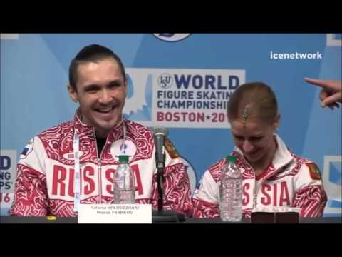 Tatiana Volosozhar & Maxim Trankov - Worlds 2016 Pairs SP Press Conference