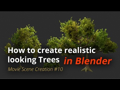 MSC #10 - How to create realistic looking trees (Blender Tutorial EN)