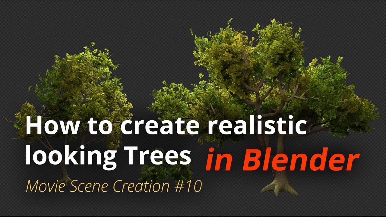 MSC #10 - How to create realistic looking trees (Blender Tutorial EN)