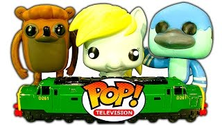 Regular Show Pop Funko Figures My Little Pony Derpy Train Wreck Toy Review