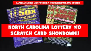 NORTH CAROLINA EDUCATION LOTTERY $10 SCRATCH CARDS !! CAN YOU PICK THE WINNER??
