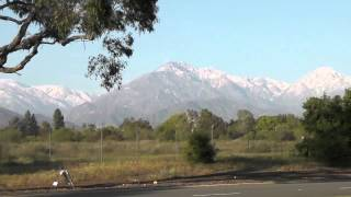 San Gabriel Mountains, North of Claremont, California