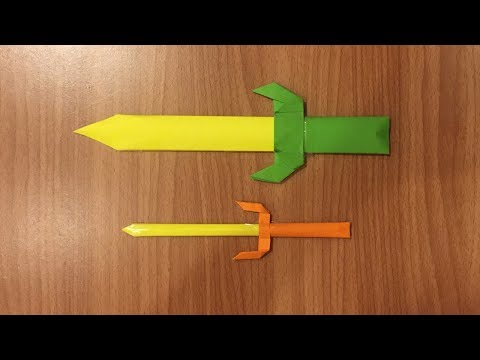 How to Make Paper Sword - Origami Folds - DIY