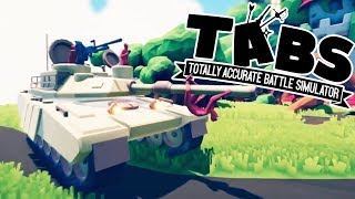TABS - HUGE New M1 Abrams TANK! - Totally Accurate Battle Simulator Gameplay
