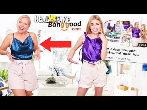 Mom Judges REAL Banggood Clothing VS. What I Made !!