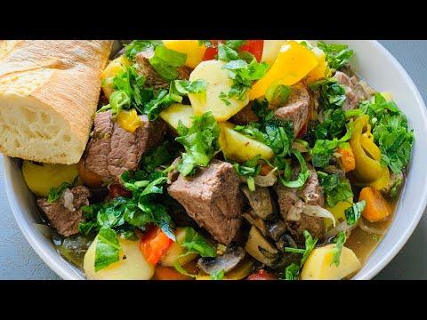 Ароматное и Полезное Блюдо! Рагу с Мясом, Овощами и Грибами! Тушеное мясо с овощами!